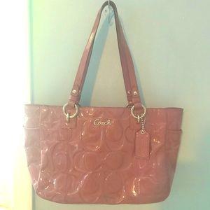 Coach purple patent leather bag